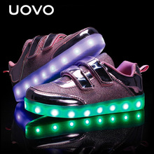 UOVO kids Luminous shoes USB Charger led shoes lights shoes girls glowing sneakers children casual sports shoes  Eur 25-35