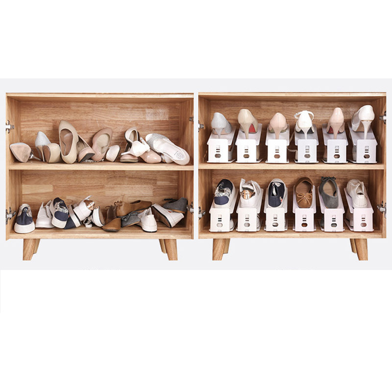 3pcs Shoe Racks Double Cleaning Adjustable Storage Shoes Rack Home Use Convenient Shoebox Creative Shoes Organizer Stand Shelf in Shoe Racks Organizers from Home Garden
