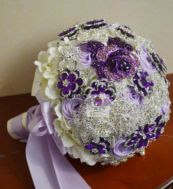 2 size vintage crystal brooch jewelry bridal wedding bouquet hand 2 size vintage crystal brooch jewelry bridal wedding bouquet hand made purple white wedding flower home mightylinksfo