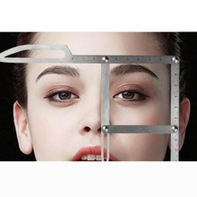 On sale 1 pcs Golden Ratio Measure Microblading Stainless Steel Ruler Permanent Makeup Eyebrow Tattoo Design Calipers Stencil