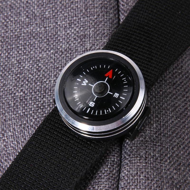 Мини-ремешок для часов Кнопка Компас для паракордовый браслет для выживания портативный карманный компас Открытый Туризм Кемпинг Аксессуары