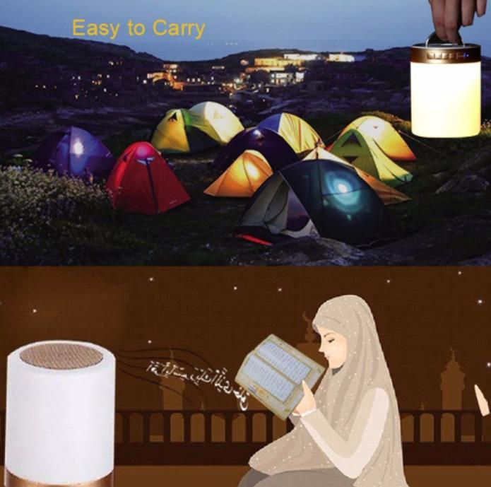 Wireless Bluetooth Speaker Colorful Led Quran Recite Speaker Musical Support Mp3 Fm Card Tf Radio Remote Control