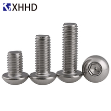 304 Stainless Steel Hex Button Head Socket Cap Screw Metric Thread Round Head Allen Mushroom Hexagon Machine Bolt M2 M2.5 M3 M4 2pcs m4 200mm m4 200mm thread length 16mm 304 stainless steel dual head screw rod double end screw hanger blot stud