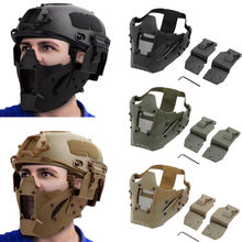 Tactical CS Half Face Mask Airsoft Paintball Hunting Mask Military Game Protective Face Mask Combat Airsoft Accessory(China)