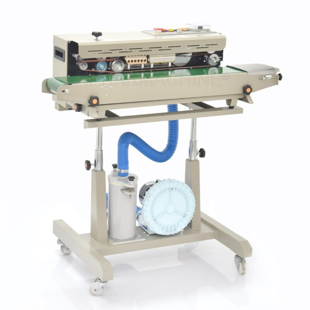 automatic Continuous plastic/Film Sealing machine for food,cosmetic,Potato chips DBF-1000 (220V/ 50HZ)