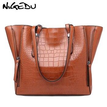 Crocodile Women Handbags Big Tote Bags shoulder bags woman brand famous PU Leather Female Handbag Large Capacity Ladies Hand Bag grande bolsas femininas de couro