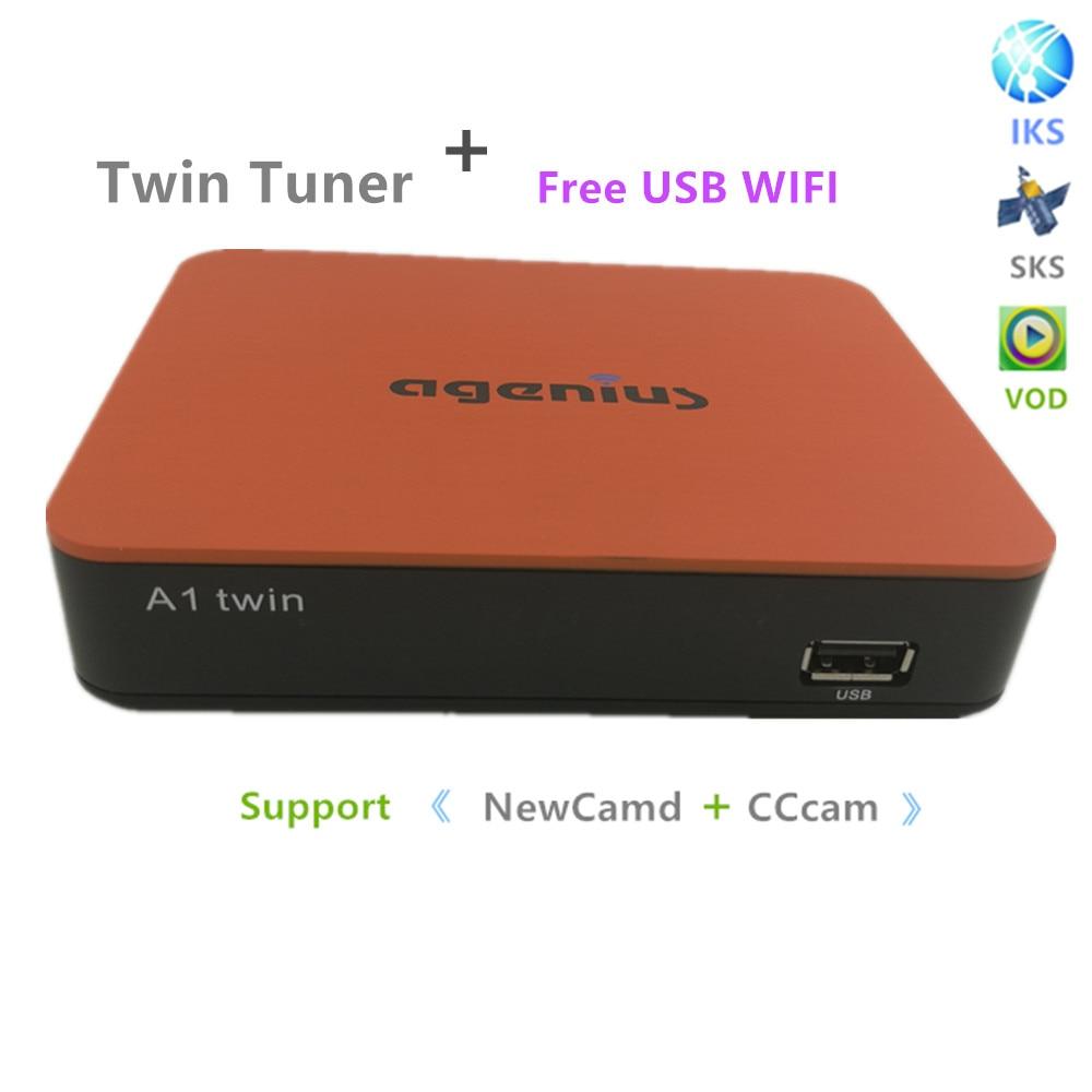 Il trasporto Libero 2018 Nuovo Modello di DVB-S2 Con Twin Tuner Sks IKS IPTV di Trasporto VOD H.265 Youtube Wifi Usb di Sostegno sud America