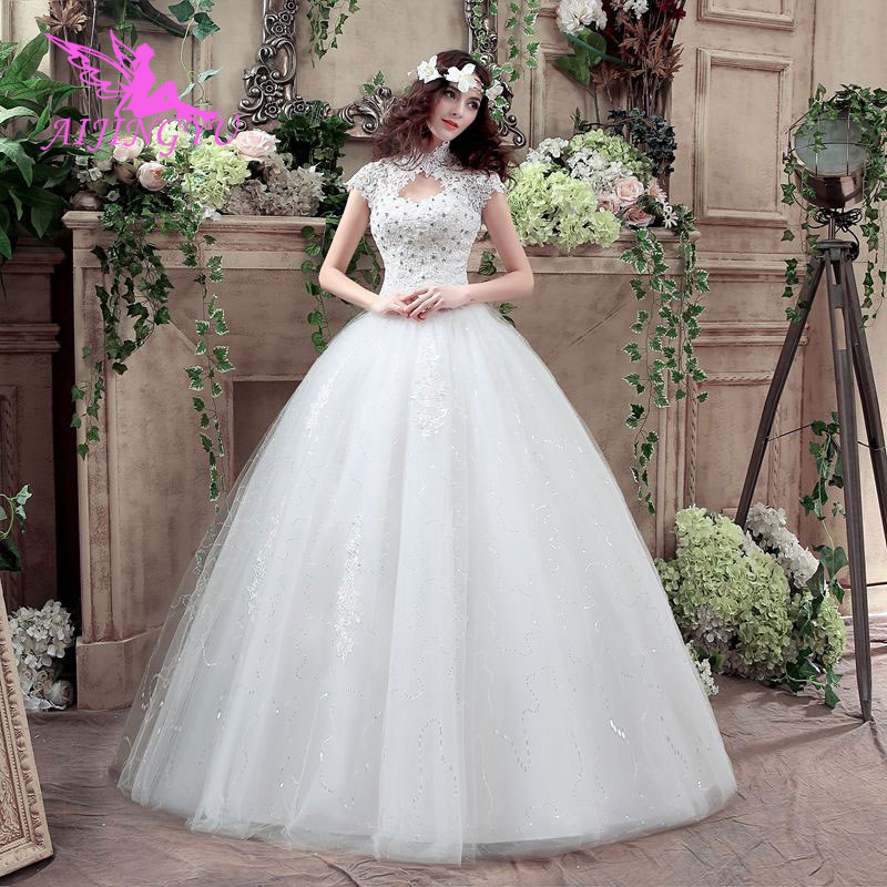 AIJINGYU 2018 princess free shipping new hot selling cheap ball gown lace up back formal bride