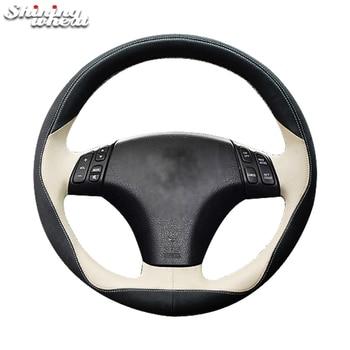 Shining wheat Leather Car Steering Wheel Cover for Mazda 3 Axela 2003-2009 Mazda 5 2004-2010 Mazda 6 Atenza 2004-2008