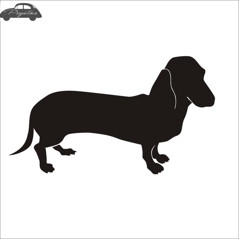 Car Pet Shop Sticker Dachshund Dog Decal Posters Vinyl Wall Art Decals Pegatina Quadro Parede Decor Mural Pet Shop Sticker