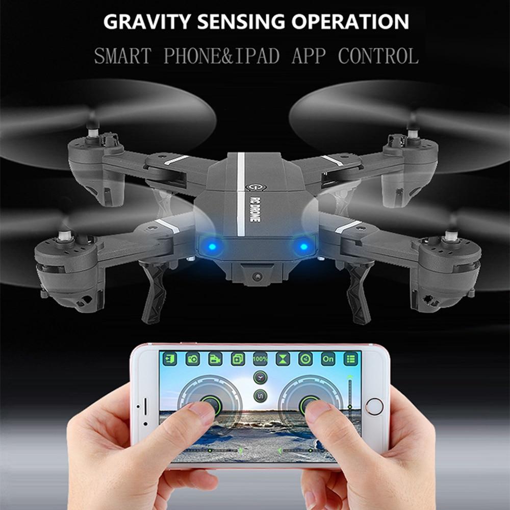 8807 W WIFI FFV RC Drone Pieghevole Quad elicottero di Controllo Remoto Selfie droni con 720 P HD 2.0MP Macchina Fotografica Dron Giocattoli VS visuo xs809hw