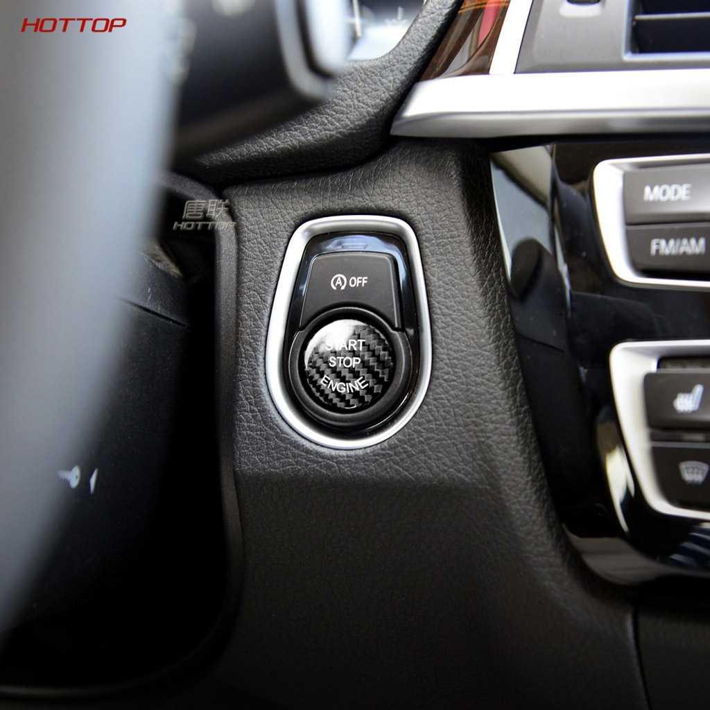 炭素繊維のステッカー車のエンジン始動停止ボタン装飾カバー bmw e90 e46 e39 e36 e60 f30 f10 e87 e53 e70 g30 X5 5 シリーズ