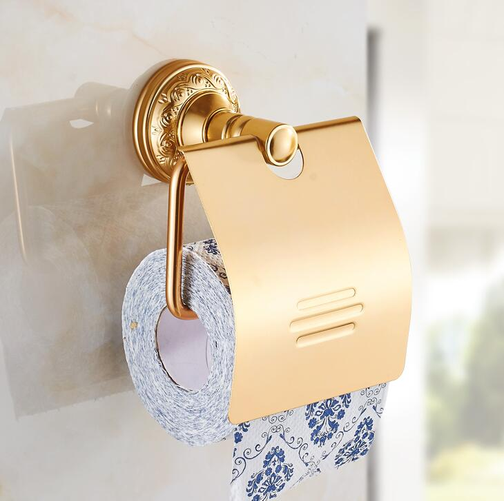 Bathroom Toilet Paper Holder With Cover Antique Gold Paper Roll Tissue Rack  Carved Base Wall Mounted Aluminium Paper HolderOnline Get Cheap Toilet Cover Gold  Aliexpress com   Alibaba Group. 24k Gold Toilet Paper. Home Design Ideas