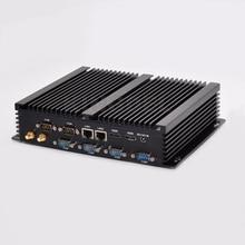 Новый безвентиляторный Дизайн мини промышленных ПК Barebone 16 ГБ Оперативная память настольный компьютер Windows 10 Core i7 4500U Dual LAN HTPC 6 com RS232