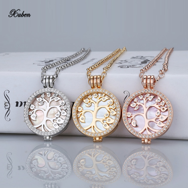 35mm coin necklace set fit my 33mm coin shell interchangeable 35mm coin necklace set fit my 33mm coin shell interchangeable pendants necklaces women fashion brand crystal aloadofball Images