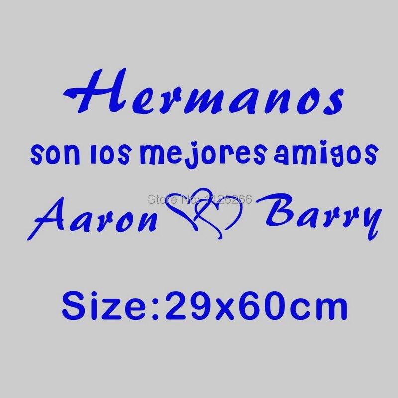 Personalizado Spanish Quotes hermanos nombres amor hijo del Corazón ...
