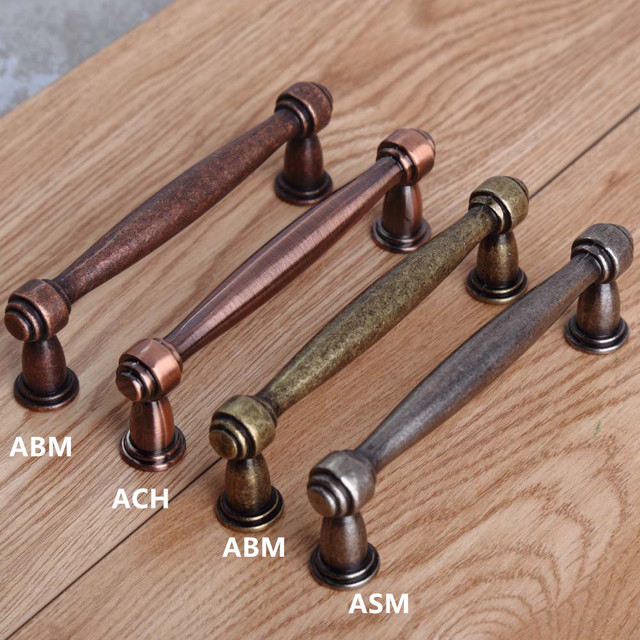 96mm vintage style furniture handles bronze kitchenn cabinet dresser door  handles 3.75