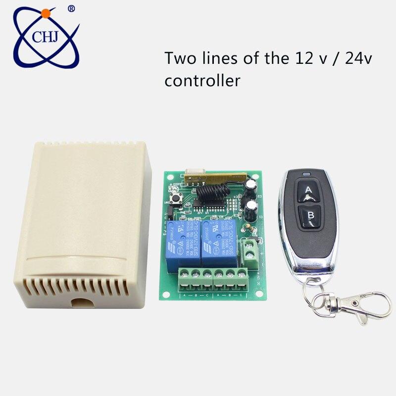 433 Mhz universel sans fil télécommande commutateur DC12V 2CH relais récepteur Module & RF 433 Mhz pour interrupteur