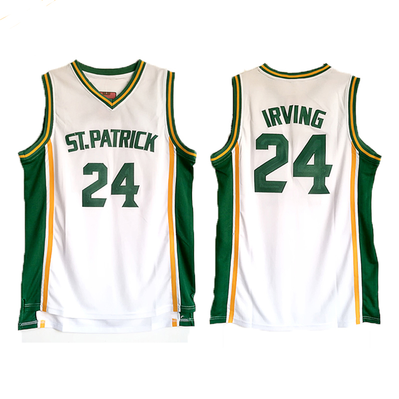 цена на Kyrie Irving Jersey 24 St. Patrick High School Basketball Jersey Men's Embroidery Retro High Quality Shirt