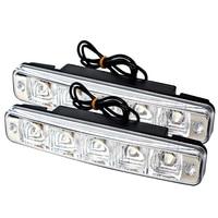Daylight External Lights 5 LEDs DRL Daytime Running Light Car Lights Waterproof Universal Car Styling