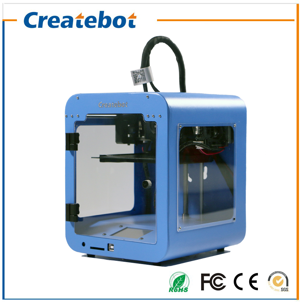 Super Mini 3D Printer Support USB or SD Card Connection Createbot Smallest 3D Printer Only 3kg Net Weight High Quality for Sale high precision createbot super mini 3d printer no assembly required metal frame impresora 3d 1roll filament 1gb sd card gift