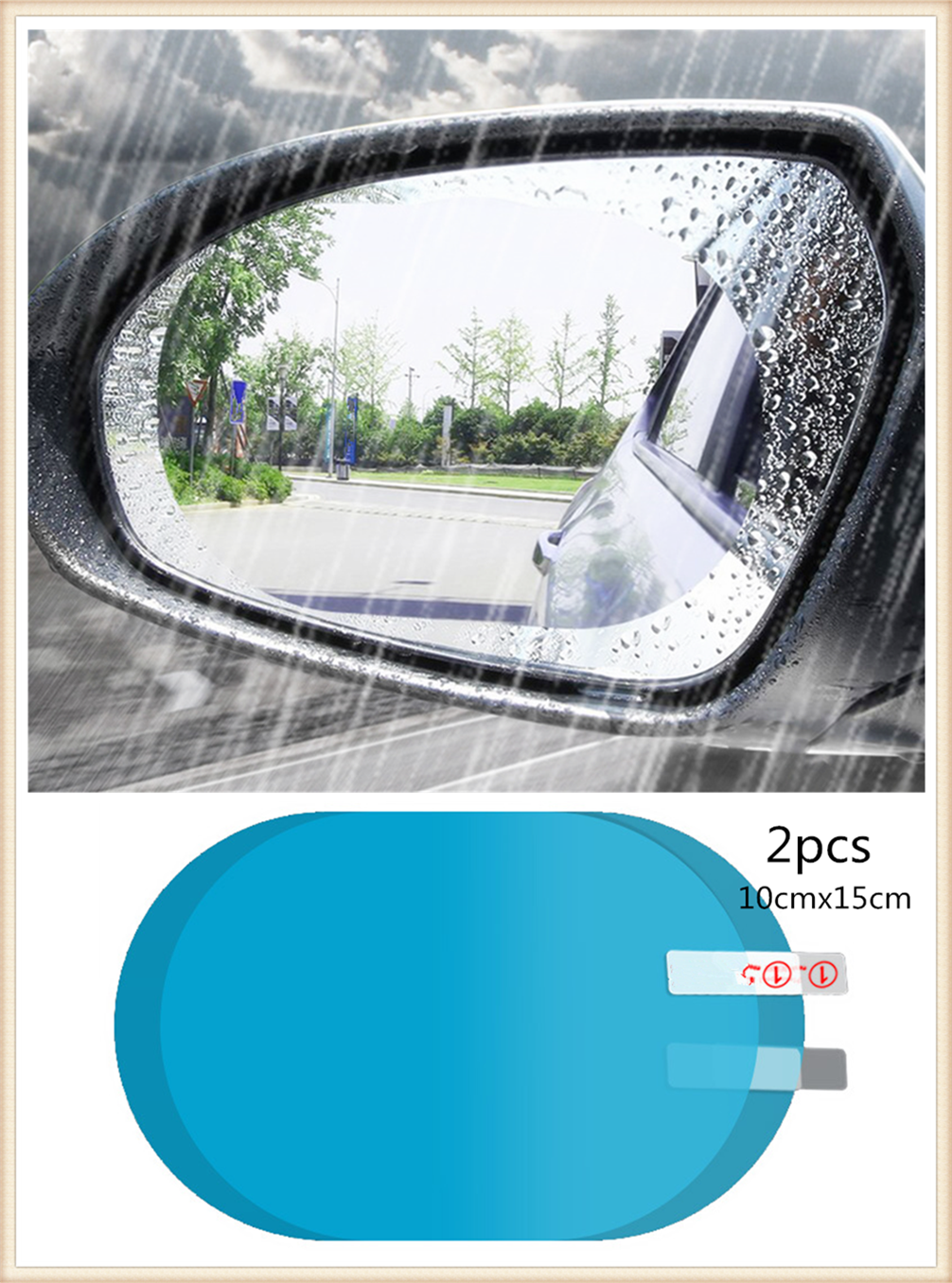 2PCS car rearview mirror anti-fog window clear rain protection auto parts for Volkswagen vw Tuhuan 1.4T Touareg2 New Beetle B6