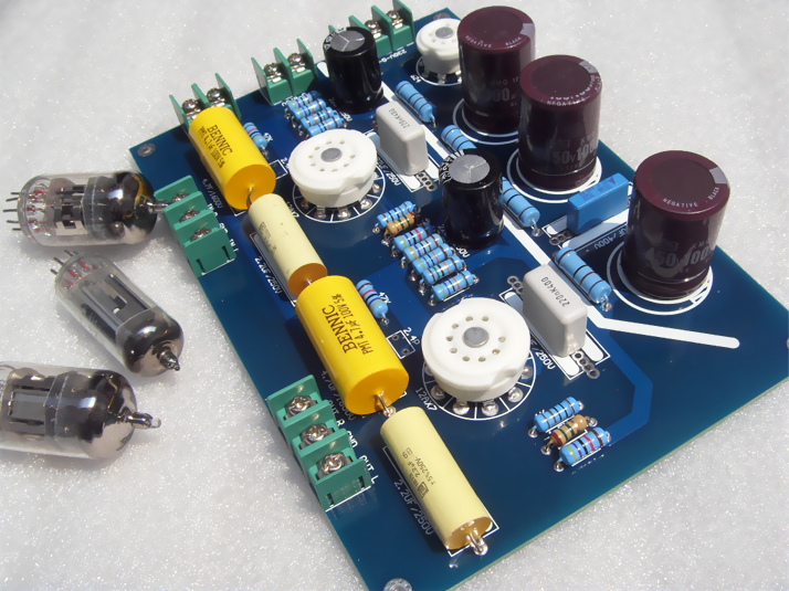 QUAD (State) -22 circuit 6N4 + 6Z4 Rectifier Tube amplifier board Tube pre-amplifier board 175MM * 120MM цена