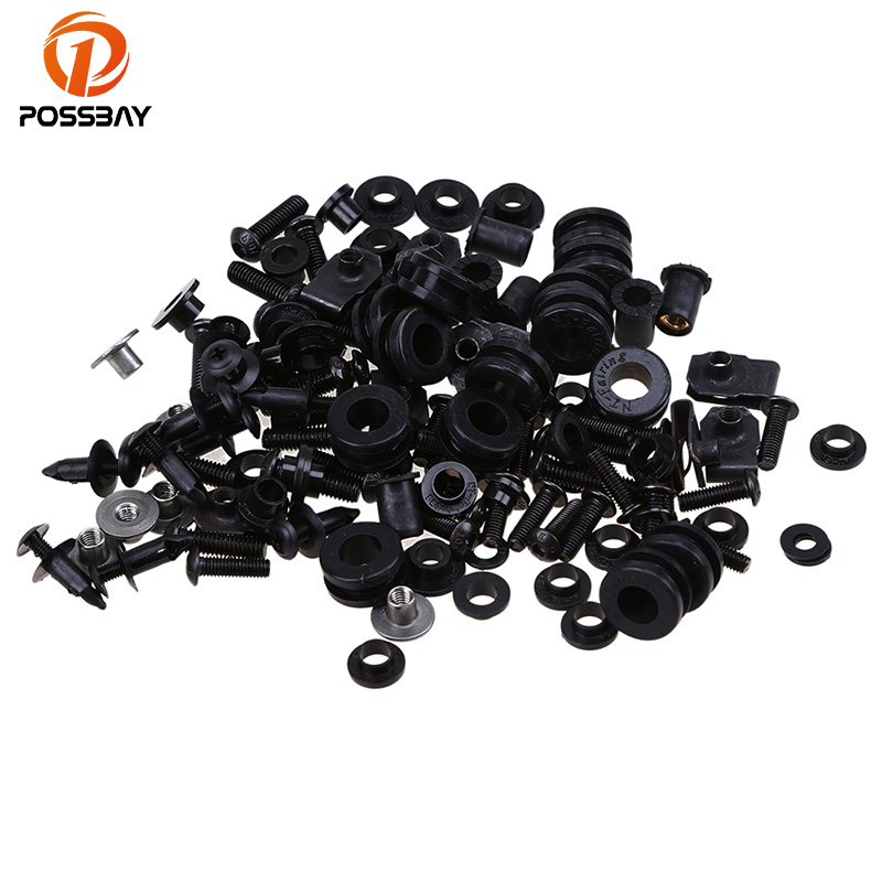 POSSBAY Vintage Motorcycle Body Fairing Screw Bolt Kit Scooter Parts For Suzuki GSXR1000 K2 2000 2002 K3 2003 2004 K5 2005 2006
