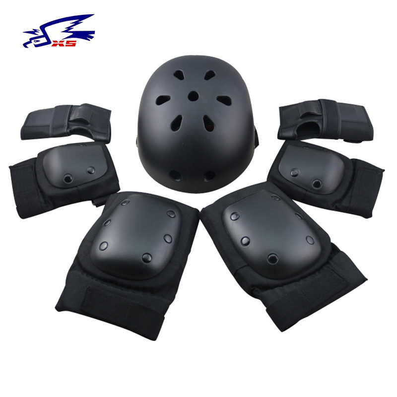 7pcs/sets Boys Cycling Helmet Ice Skating Protective Gear Elbow Pads Child Bicycle Skateboard RollerSkating Knee Protector Sets