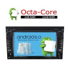 A-sure Android 6.0 Reproductor de Radio CD DVD GPS para OPEL Meriva Zafira Astra Antara Vectra Vivaro 8 core CPU 2 RAM con DAB +