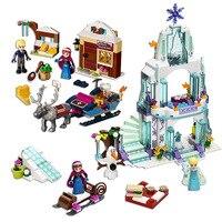 친구 시리즈 공주 피규어 드레스 블록 장난감 호환 레고 친구 도시 냉동 공주 성 장난