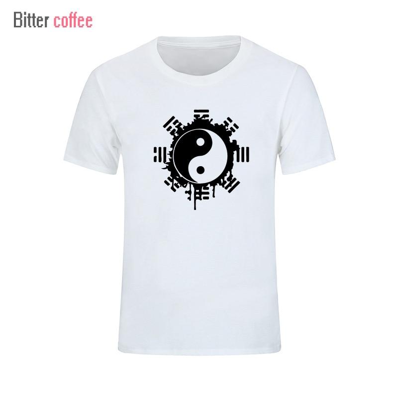 2017 divat nyári t-shirt férfi felső felső kínai Tai Chi tinta - Férfi ruházat - Fénykép 2