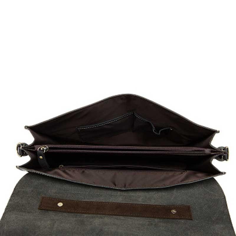 Aktentasche Crossbody Portfolio Mode Männer Vintage Taschen Business Crazy Männlichen Leder Handtaschen Horse Für Black Mlt1036 Solide Yishen q8wfx