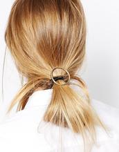 Эластичные ленты для волос/резинка с e-покрытие металла золотой gemoetric украшения женщины аксессуары для волос хвост