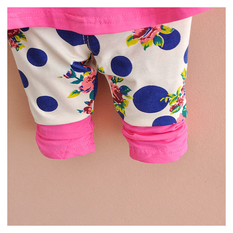 Girl Clothing Set Girl Long Sleeve T Shirt Pants Summer Cartoon Applique Fashion Sports Set 1 3 year Baby Boy Girl Clothes Sale in Clothing Sets from Mother Kids