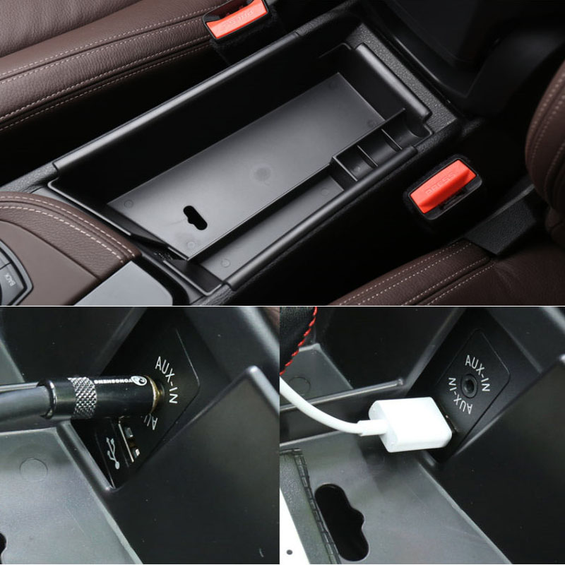 plastic The central store content box Car accessories For BMW X1 F48 2015 2016 20i 25i