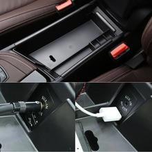 De plástico La caja del contenido del almacén central accesorios Del Coche Para BMW X1 F48 2015 2016 20i 25i 25le LHD