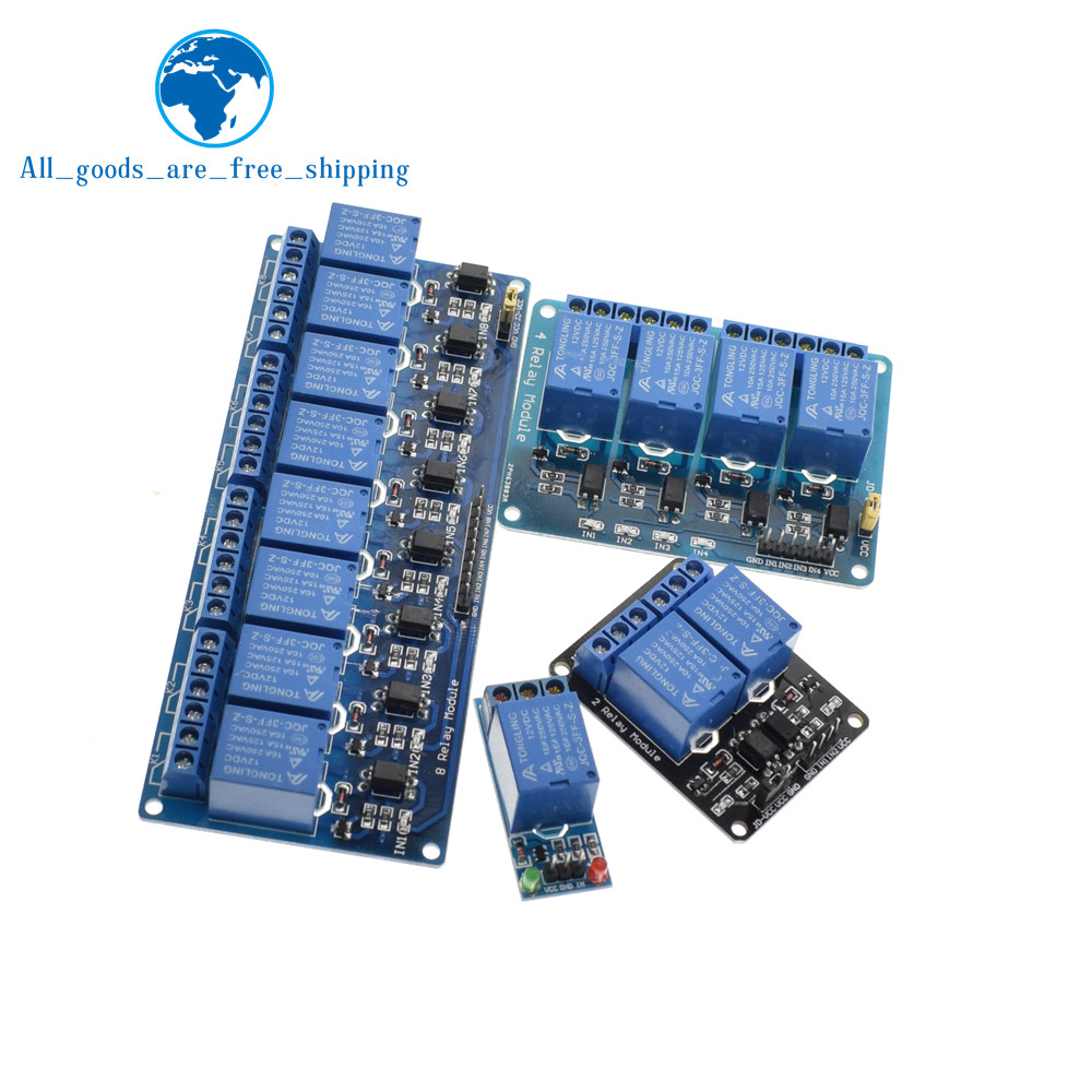 TZT 1pcs 5v 12v 1 2 4 6 8 channel relay module with optocoupler. Relay Output 1 2 4 6 8 way relay module for arduino In stock 20
