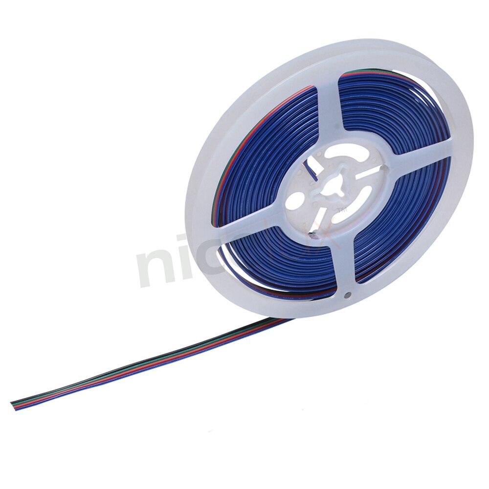 6 метров 20ft 22AWG 4Pin провод кабель удлинитель Электрический кабель ПВХ изолированный многожильный медный провод для 4pin RGB 3528/5050 Светодиодная л...