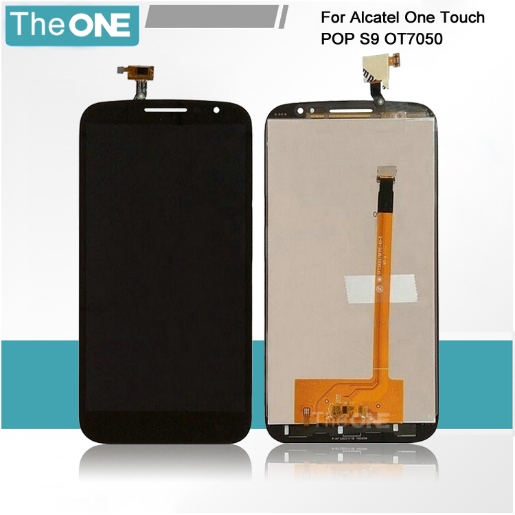 In Stock Black For Alcatel One Touch POP S9 7050 LCD Display And Touch Screen Assembly Free Shipping + Track Number