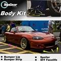 Para Mazda MX 5 Miata Eunos Roadster MX-5 MX5 Pára Lábio/Spoiler dianteiro Defletor Para Carro Tuning/Body Kit/Tira Saia