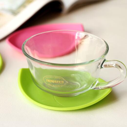 1PCS Creative Leaves Shaped Silicone Round Dining Table Mats Heat Resistant Mat Cup Coffee Coaster Cushion Mats&Pads