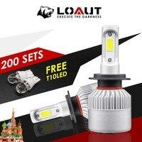 400 штук люсис привело Para Авто H4 H7 светодиодный фар автомобиля без ошибки 8000LM 6500 K свет 24В 12В противотуманная лампа COB гарантия 1 год