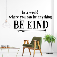 DIY Art be kind Cartoon Wall Decals Pvc Mural Diy Poster Waterproof Decoration Home Decor