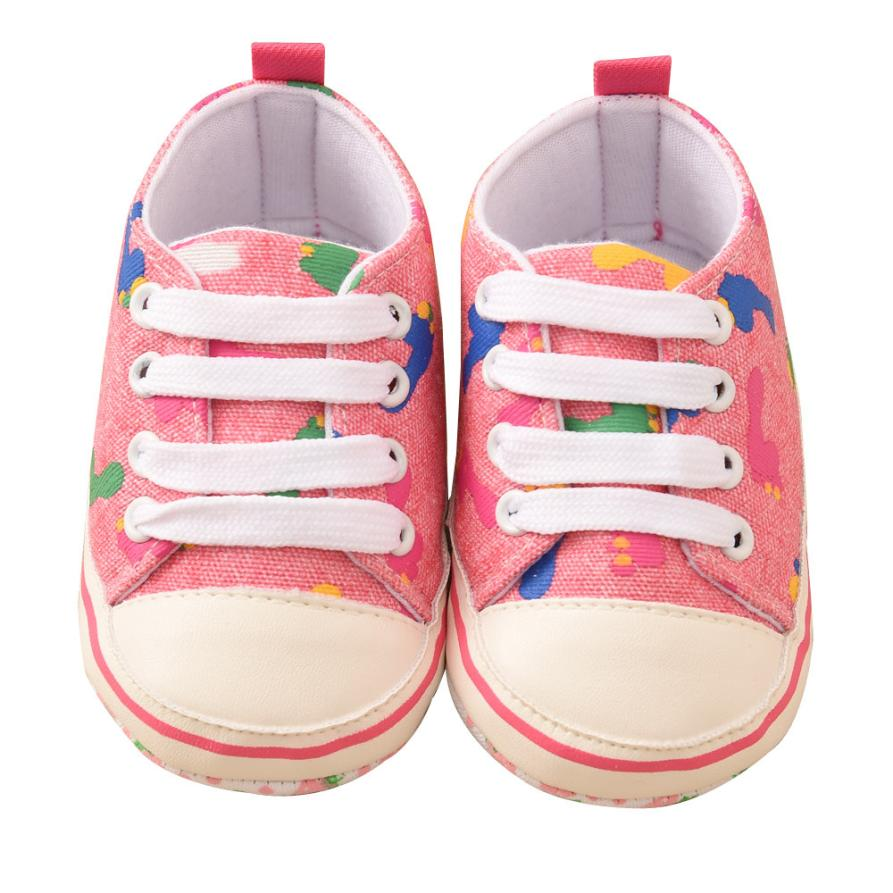 TELOTUNY 2018 Toddler Baby Infant Printing Bandage Canvas Shoes Newborn Shoes For Girls Boys Shoes FEB28