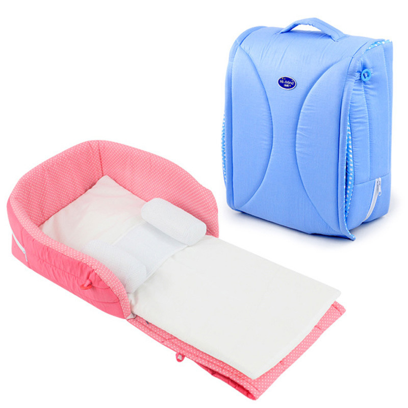 New 0-6 Months Portable Baby Cribs Newborn Travel Sleep Bag Infant Travel Bed Cot Bumpers Portable Folding Baby Bed Mummy Bags dewel foldable baby cribs portable safe newborn cot mummy baby travel bags supplies storage 5 pocket shoulder bag baby nappy bed