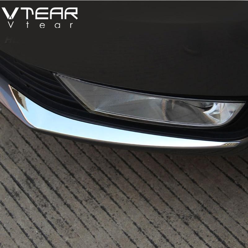 Vtear For Skoda Octavia A7 foglights cover Exterior decoration fog font b lamp b font body