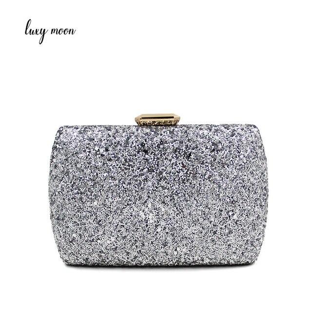 0b9b3db2f Luxy Lua Dia Embreagens Senhora Bolsa Casamento Saco de Noite de Cristal  Frisado Strass Bolsas Noite