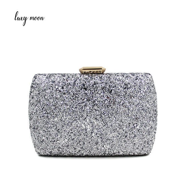 Luxy Moon Crystal Evening Bag Beaded Day Clutches Lady Wedding Purse  Rhinestones Handbags Silver Black Evening e2cafa044a61
