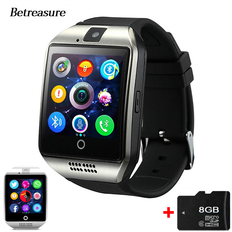 Betreasure Q18 Bluetooth Smart Watch Intelligent Clock with Pedometer Camera TF/SIM Card Whatsapp For Android Phone Pk A1 DZ09